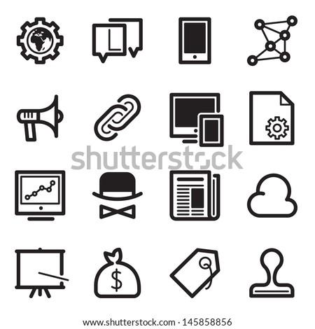 SEO Icons Set 2 - Simpla Series - stock vector