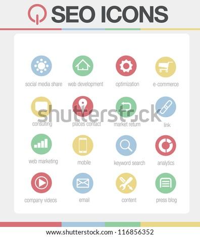 SEO Icons vector Set 2 - stock vector