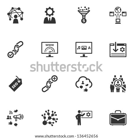 SEO & Internet Marketing Icons - Set 2  - stock vector