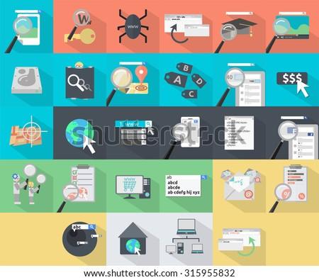 SEO Marketing Icons - stock vector
