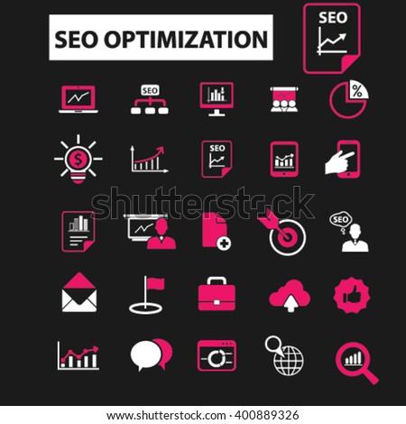 seo optimization icons  - stock vector