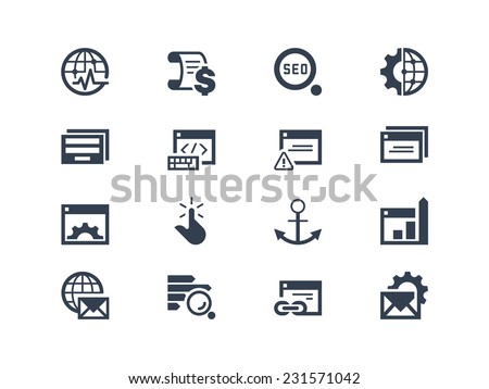 SEO. Search engine and optimization icons - stock vector