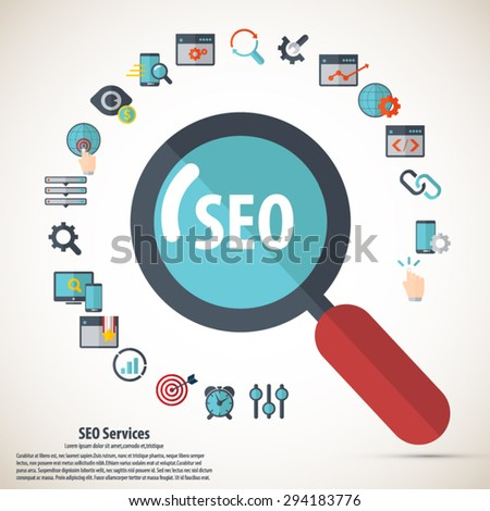 SEO services - stock vector