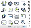 SEO services icons set 05 - stock vector