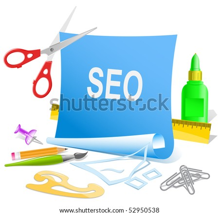 Seo. Vector paper template.