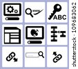 SEO, web icon set - stock photo