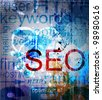 SEO. Word Grunge collage on background - stock photo