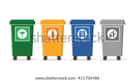 separate garbage bins