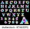 Sequin Alphabet vector - stock vector