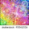 Sequin rainbow background - stock vector