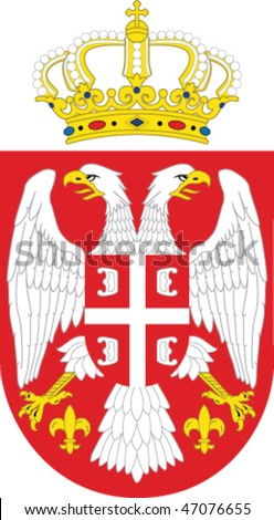 Serbia national emblem -  double-headed eagle - stock vector