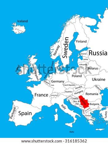 Serbia Vector Map Europe Vector Map Stock Vector 316185362