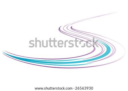 Serpentine. Vector background. - stock vector