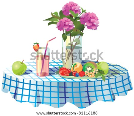 served table - stock vector
