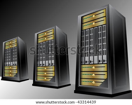 Server - stock vector