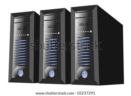 Server Farm - stock vector