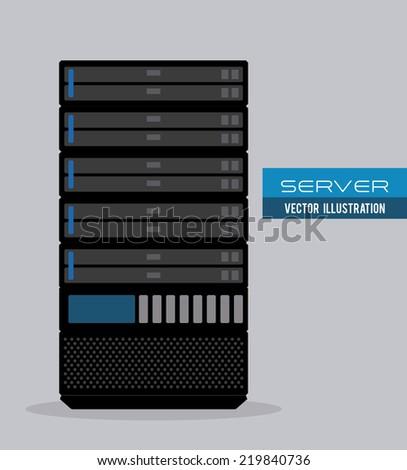 server graphic design , vector illustration - stock vector