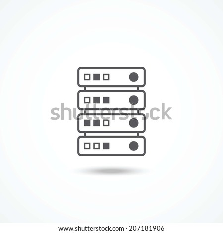 Server icon - stock vector