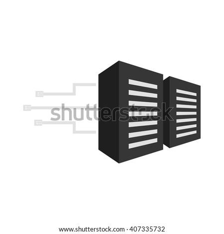 Server icon. Server icon vector. Server icon simple. Server icon app. Server icon web. Server icon logo. Server icon sign. Server icon ui. Server icon flat. Server icon eps. Server icon art. Server. - stock vector