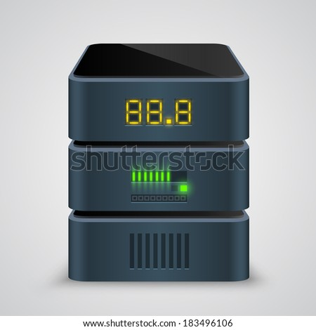 Server icon. Vector - stock vector