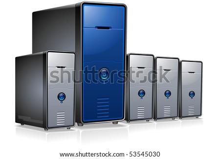 Servers - stock vector