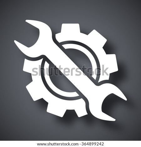 Service icon, vector - stock vector