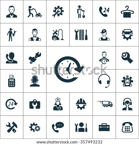 service Icons Vector set. service Icons Symbol set. service Icons Picture set. service Icon Image set. service Icons Shape set. service Icons Sign set icons universal set for web and mobile  - stock vector