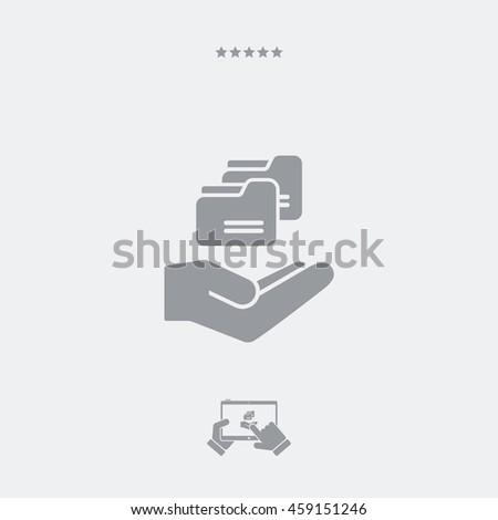 Service offer - Folder backup - Minimal icon - stock vector