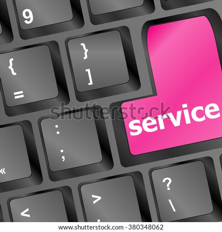 Services keyboard button - business concept vector vector illustration - stock vector