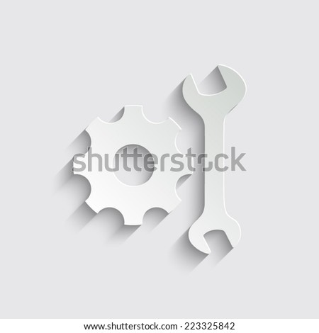 Servise - vector icon with shadow on a grey background