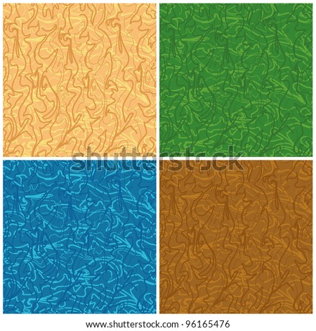 Set abstract seamless backgrounds of the curves. Vector