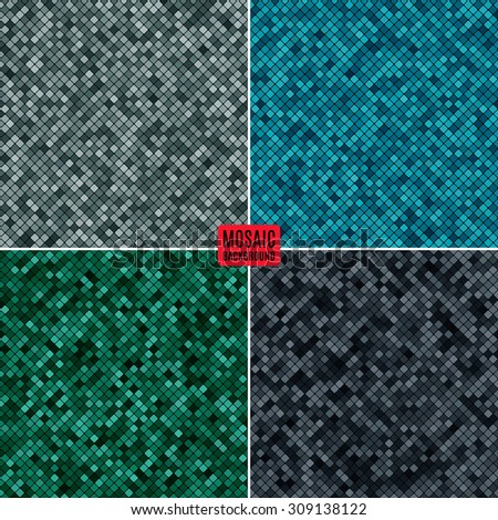 set background abstract mosaic of the pixel pattern grid and colored squares. stock vector illustration eps10 - stock vector