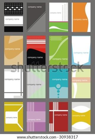set business card (set 8) - stock vector