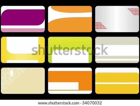 set business cards - stock vector