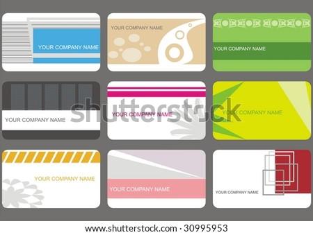 set business cards (set 9) - stock vector