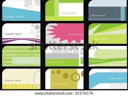 set business cards (set 11) - stock vector