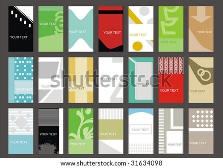 set business cards (set 12) - stock vector