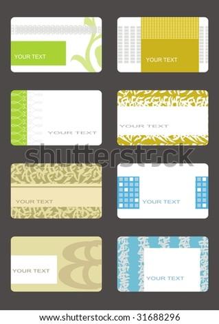 set business cards (set 13) - stock vector