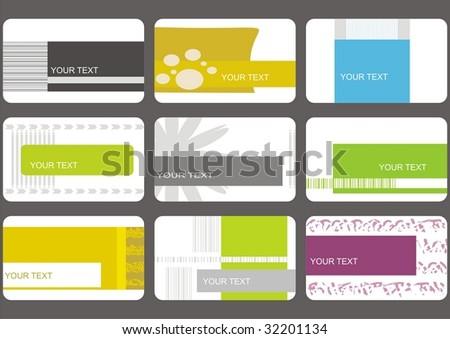 set business cards (set 16) - stock vector