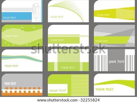 set business cards (set 17) - stock vector