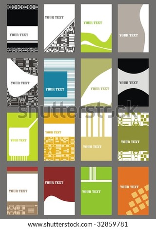 set business cards (set 20) - stock vector