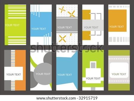 set business cards (set 21) - stock vector