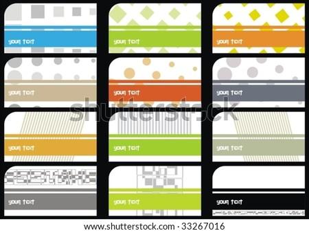 set business cards (set 23) - stock vector