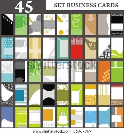 set business cards set 31 - stock vector