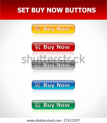 """Set """"Buy Now"""" Buttons - stock vector"""