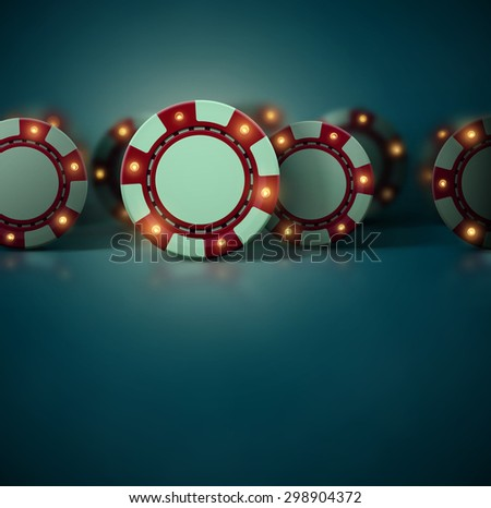 Set casino chips, eps 10 - stock vector