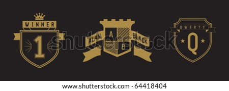 set coat of arms - stock vector