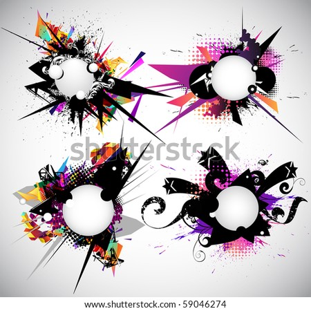 Set  design element. - stock vector