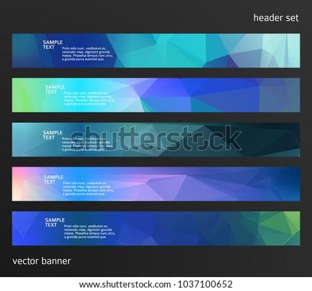 set design elements business presentation template のベクター画像