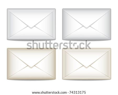Set e-mail icon - stock vector